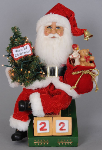 CC14-07 Lighted Countdown til Christmas Santa