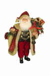 CC16-166 Lighted Wine and Gifts Santa