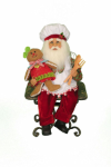 CC16-171  Gingerbread Baking Santa