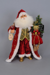 CC16-102  Lighted Wine & Friends Santa
