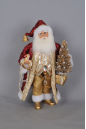 CC16-143  Lighted Burgundy and Gold Santa with R