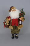 CC16-96  Lighted Wine Santa