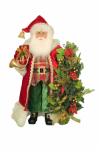 CC18-34  Lighted Christmas Tartan Santa