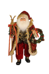 CC18-35  Lighted Elk Staff Santa