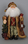 CC19-04 Lighted Wine Tree Santa