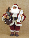 CC20-49 Lighted Vintage Gift Bag Santa
