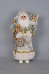 CC22-01 Cream Christmas Greetings Santa
