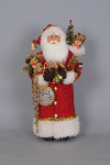 CC22-02 Red Christmas Greetings Santa