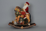 SC-09 Lighted Rocking Horse Santa