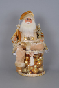 SC-19 Lighted Golden Christmas Shine Santa