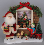 SC-33LE Lighted Toy Window Santa
