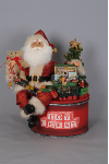 SC-35 Lighted Toy Chest Santa