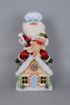 SC-15LE Lighted Gingerbread House Santa