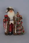CC16-113 Lighted Woodland Elegance Santa