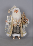 CC16-148 Lighted Silver and Gold Santa R