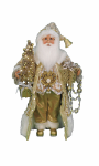 CC16-189 Lighted Golden Glimmer Santa