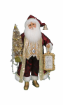 CC16-193 Lighted Burgandy Santa