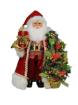 CC16-203 Lighted Poinsettia Tree Santa