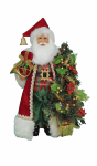 CC16-203 Lighted Tartan Plaid Santa