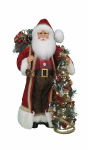 CC16-204  Lighted Woodland Pine Santa