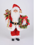 CC16-213 Lighted Berry Wreath Santa