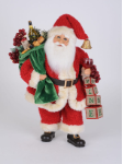 CC16-214 Lighted Wine Blocks Santa