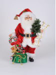 CC16-217 Lighted Candy Cane Gift Bag Santa