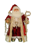 CC28-07  Red and Gold Santa