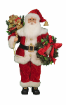 CC30-09  Lighted Wreath & Gifts Santa