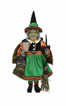 HA18-02  Lighted Pumpkin Glow Witch