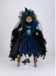 HA26-06 Peacock Sitting Witch