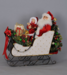 SC-44 Lighted White Sled Santa