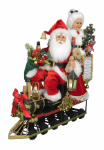 SC-49  Lighted Mr. & Mrs. Claus Train