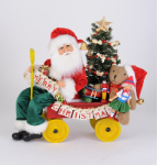SC-52 Lighted Merry Christmas Wagon Santa