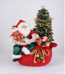 SC-54 Lighted Merry Christmas Toy Bag Santa