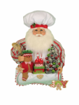 SH18-07  Gingerbread Santa Head Wall/Door Hanger