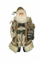 CC18-27 Lighted Natural Elegance Santa