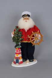 SC-17LE Lighted Lighthouse Captain Santa