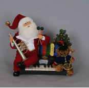 SC-37 Lighted Music Santa