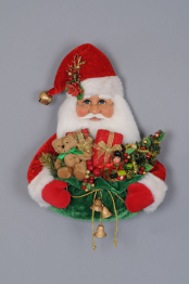 SH20-01 Santa Head with Gift Bag Wall/Door Hanger