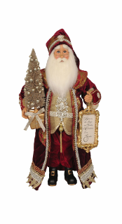 CC16-186  Lighted Believe in the Magic Santa