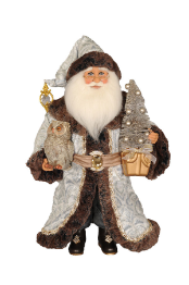 CC16-187 Lighted Midnight Elegance Santa