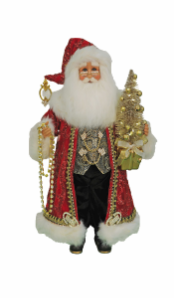 CC16-200  Lighted Traditional Elegance Santa