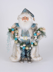 CC16-212 Lighted Coastal Swag Santa