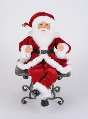 CC16-224 Traditional Poseable Santa (Set of 2)
