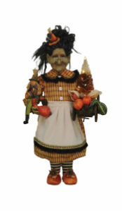 HA18-07  Lighted Fall Harvest Witch