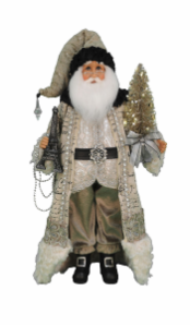 CC18-37  Lighted Paris Elegance Santa