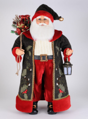 CC36-21 Lighted Woodland Cardinal Santa