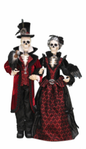HA38-01  Edward and Angelica Skeleton Couple