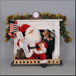 SC-25 Lighted 'Night Before Christmas Fireplace Santa'